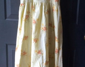50's handmade floral cotton Party Dress Size Small medium