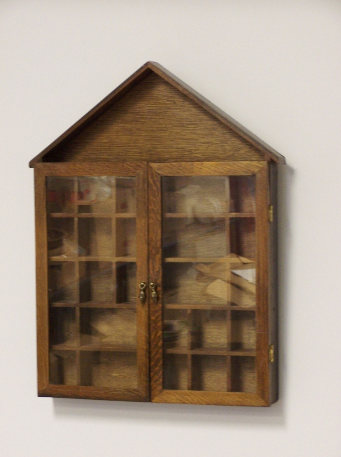 Small Curio Cabinet To Hang On The Wall Oak By
