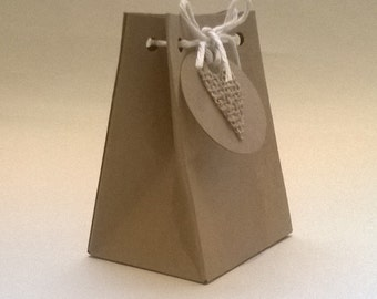10 Handmade Gift Bags  for any occasion, 9 cm high, Wedding, Birthday, Aniversary, Free Shipping