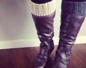 Boot cuffs, boot toppers, womens boot socks, fashion accessories, crochet boot cuffs, socks, leg warmer