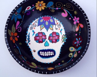Day of The Dead Wood Bowl