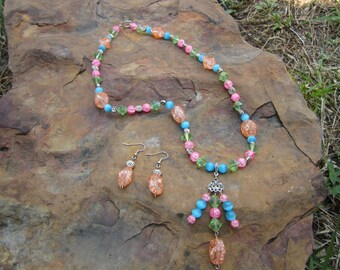 Springtime Necklace and Earrings #306