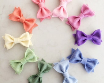 Felt Bow Hair Clips - choose your colors