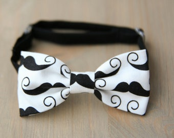 Mustache bow tie, mustache baby shower gift, baby bow tie, baby photo prop, newborn bow tie, toddler bow tie, mustache birthday
