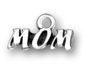 Mom Charm - Sterling Silver