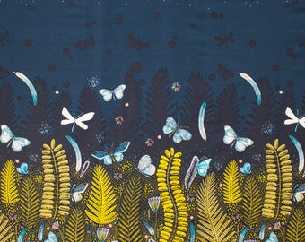 Biology - Border Panel - Sarah Watson for Cloud 9 - Organic Cotton - 126112 - 1/2 Yard