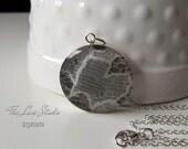 Custom Wedding Dress Necklace / Lace Necklace / Something Blue / Mother of the Bride Gift / Unique / Wedding Keepsake (large size)