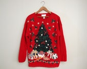 3D Christmas Tree Sweater