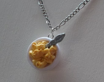 Macaroni and Cheese Necklace - Bowl of Mac & Cheese