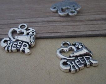 15pcs  Antique silver letter charm pendant  16mmx18mm