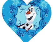 Iron on fabric Frozen Olaf iron on heart applique DIY