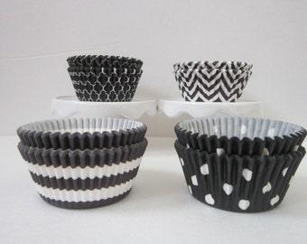 Black ~ Standard ~ DESIGNER GREASE RESISTANT ~ BakeBright ~ Baking liners (set of 50)