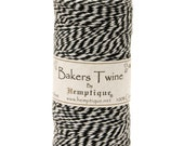 Black and White Cotton Bakers Twine for Packaging, Etc. 410 Feet - Natural and Eco-Friendly