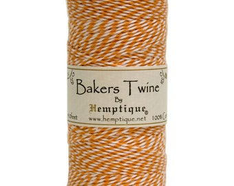 Orange and White Cotton Bakers Twine for Packaging, Etc. 410 Feet - Natural and Eco-Friendly