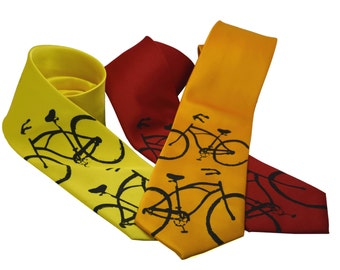 Bike Tie screen printed Bicycle Necktie