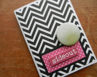 Volleyball Note Card Handmade Greeting Card with white volleyball Embellishment