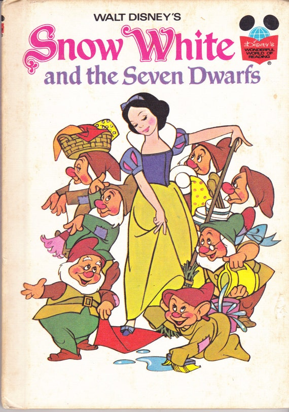 Walt Disney's 1973 Snow White And The Seven Dwarfs Hardbound Children`s Book**
