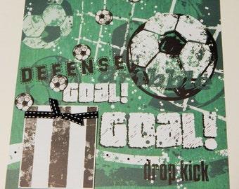12x12 Premade Scrapbook Layout- Soccer