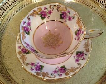 Bone China Tea Cup Pink Floral
