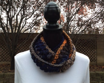 Nordic Necklace Skinny Infinity Eternity Cowl Scarf