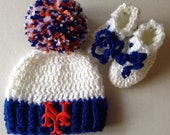 Ny Mets baseball hat and sock set mets baby beanie