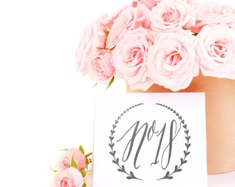 Laurel Wreath Wedding Table Number Decal, Custom Table Number, Wedding Reception Decor, Rustic Wedding Table Number, Vintage Wedding