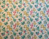 Liberty Tana Lawn, Liberty Art Fabric- Ella & Libby D, aqua, turquoise floral fabric, modern floral prints, fat eighth, cute floral prints