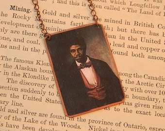 Dred Scott necklace Civil War African American slavery history  mixed media jewelry