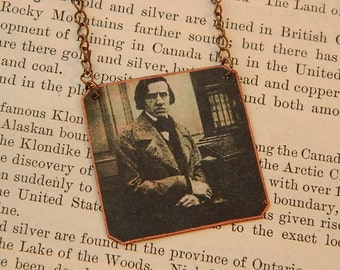 Chopin Jewelry Composer jewelry classical music mixed media jewelry