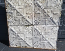 Antique Ceiling Tile, Architectural Ceiling Tile, Wall Decor, Shabby Chic, Vintage Ceiling Tin