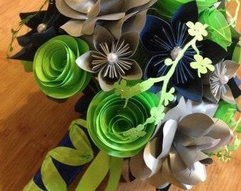 Kusudama paper flower bouquet
