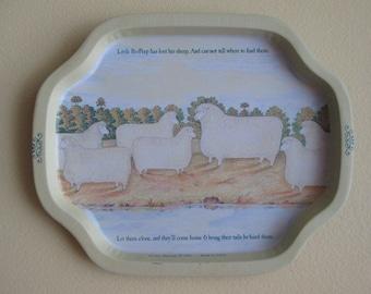 Little Bo Peep tray nursery decor wall