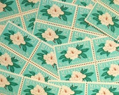 50 pieces - 1967 5 cent Mississippi Magnolia Vintage unused stamps - great for wedding invitations