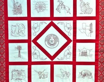 Spirit of Texas Quilt Pattern -- DIGITIZED Version
