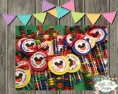 Mickey Mouse Clubhouse Party Favor Candy Sticks