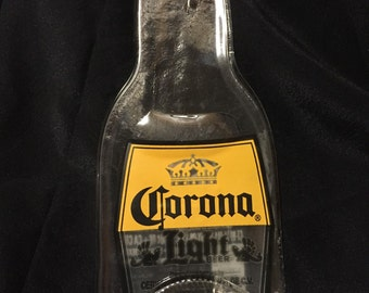 Clear Glass Corona Light Beer Bottle Spoon Rest Spoonrest