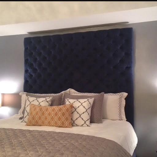 diamond tufted velvet headboard king extra tall legs. Black Bedroom Furniture Sets. Home Design Ideas