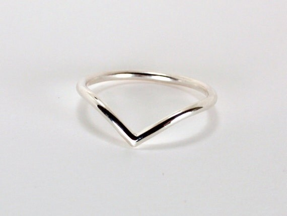 Chevron Ring, Sterling Silver, Made to Order