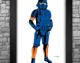 "STORM TROOPER ""New York Islanders"" inspired art print. Available in 3 sizes!"