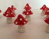 10 mushrooms free standing table top mad hatter tea party handmade party favor wedding