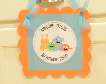 Little Monsters Birthday door sign, welcome sign, Monster birthday, Monster party, Little Monster, Little Monsters, Monster, 1st birthday