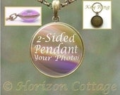 Two Sided Custom Photo Pendant Necklace, Key Ring, or Set With Both