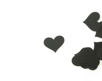 Clearance Sale Black Heart Confetti Hand Punched STR818