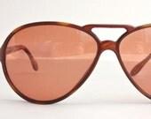 Vintage 60's French Cognac Aviator Sunglasses