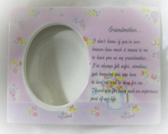 Grandmother Porcelain Picture Frame Gift