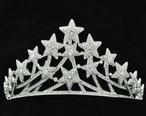 Swarovski Crystals Excellent Multi Stars Tiaras Crown Bridal Accessories SHA8601 …