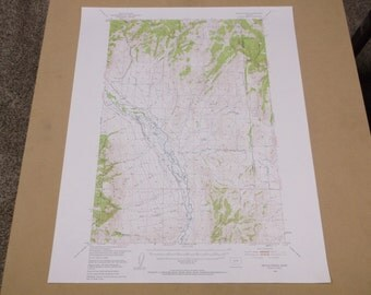 Vintage 1958 Devils Fence Montana Geological Survey Map