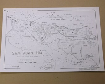 1979 Puerto Rico Nautical Map, San Juan Harbour