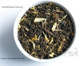 Pineapple Tea / Organic Loose Leaf Tea / Hand Blended Green Tea