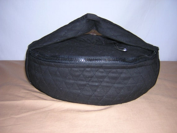 Quilted Black Casserole Dish Carrier Or Pie Carrier